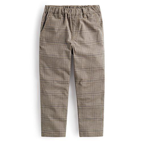 格紋長褲-童