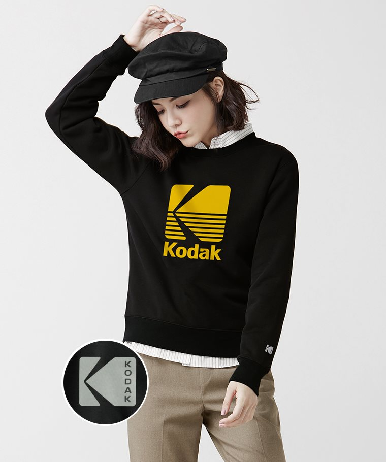 KODAK刷毛圓領衫-07-女