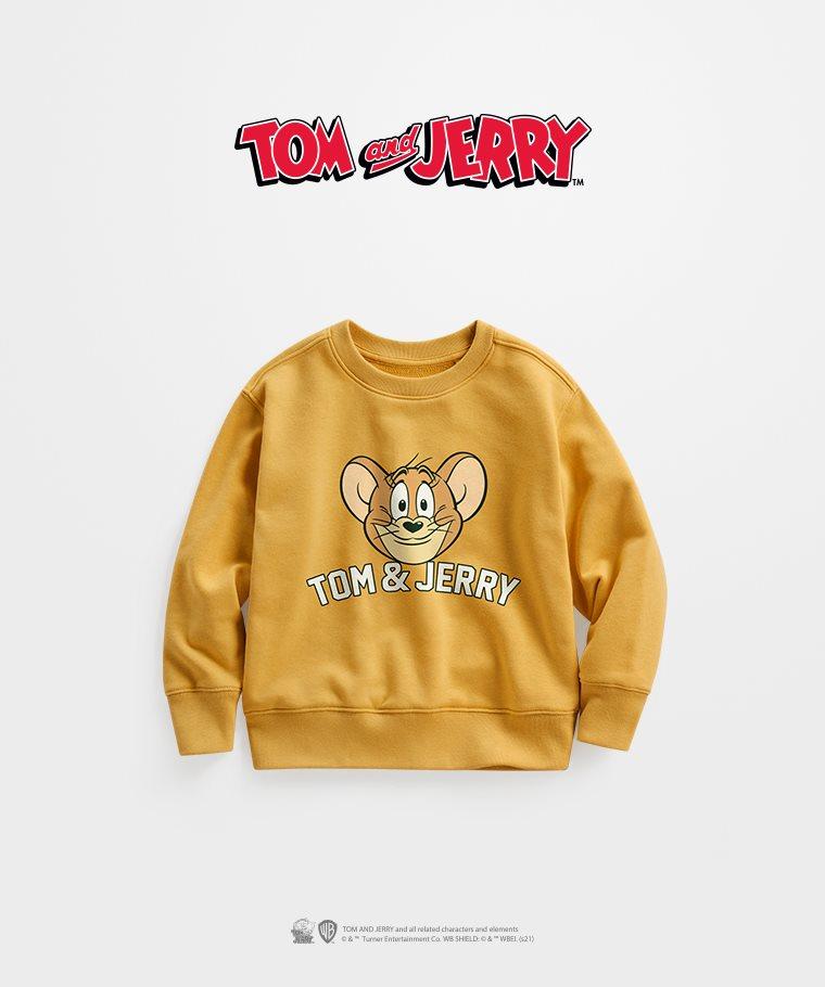 Tom & Jerry毛圈圓領衫-08-童