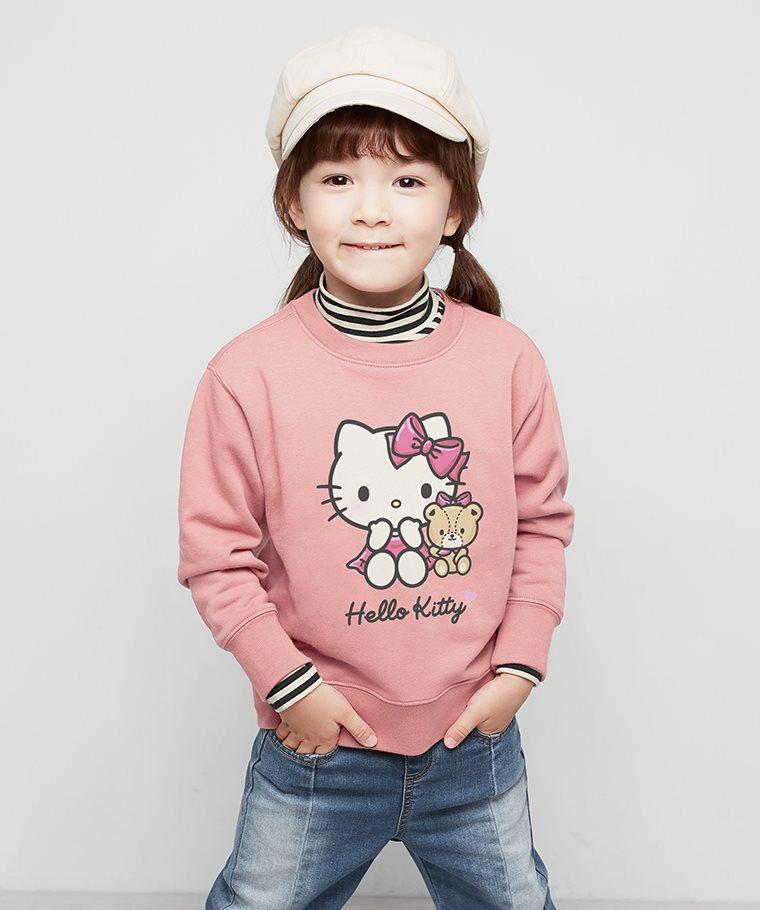 Hello Kitty毛圈圓領衫-05-童
