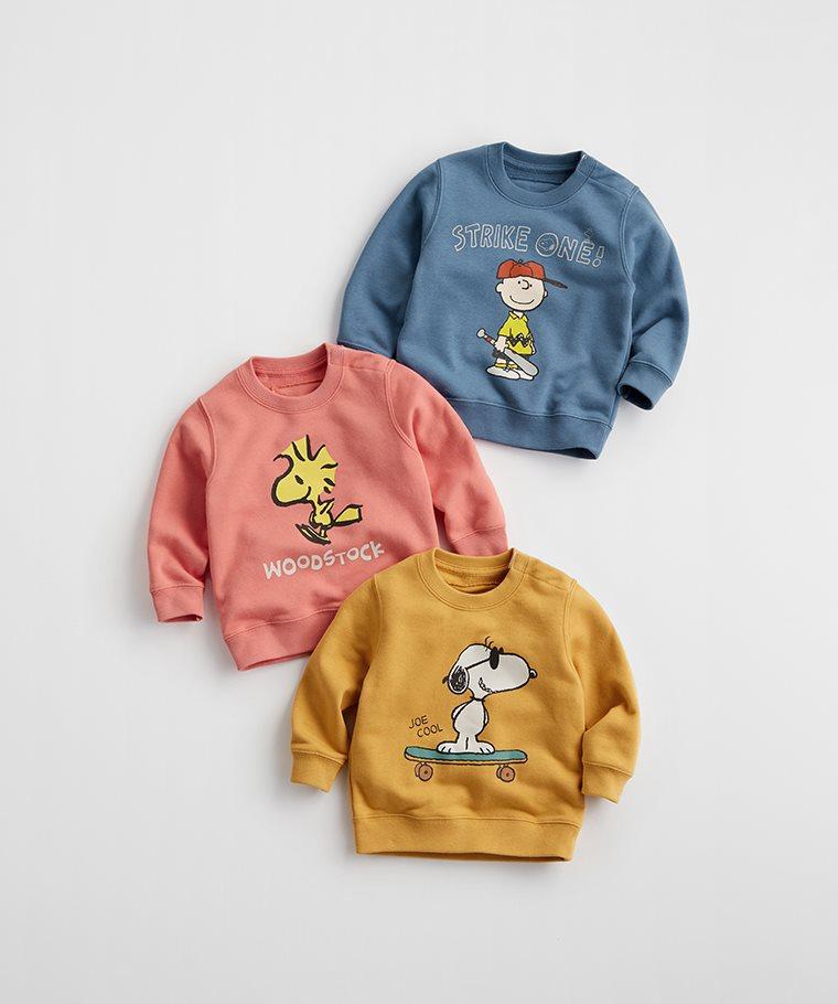 史努比系列毛圈圓領衫-10-Baby