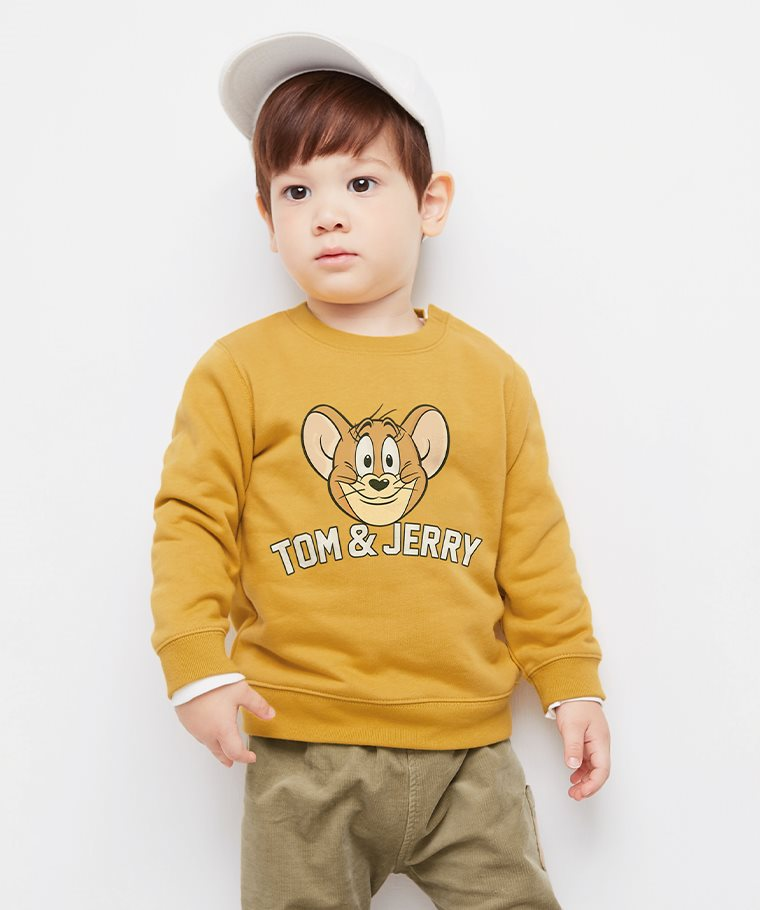 Tom & Jerry毛圈圓領衫-08-Baby