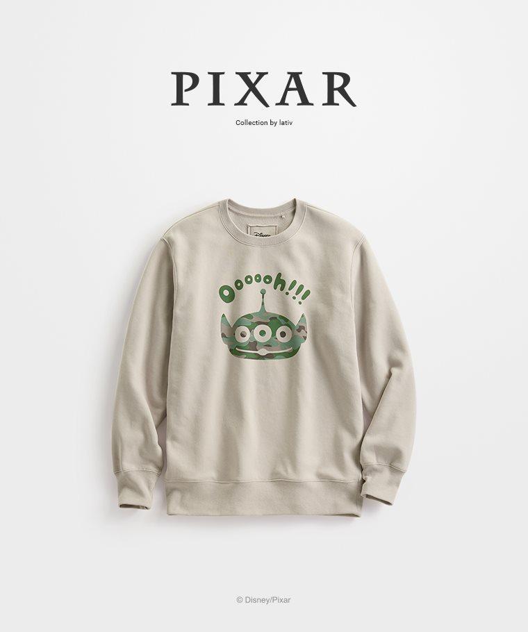皮克斯系列刷毛圓領衫-01-男