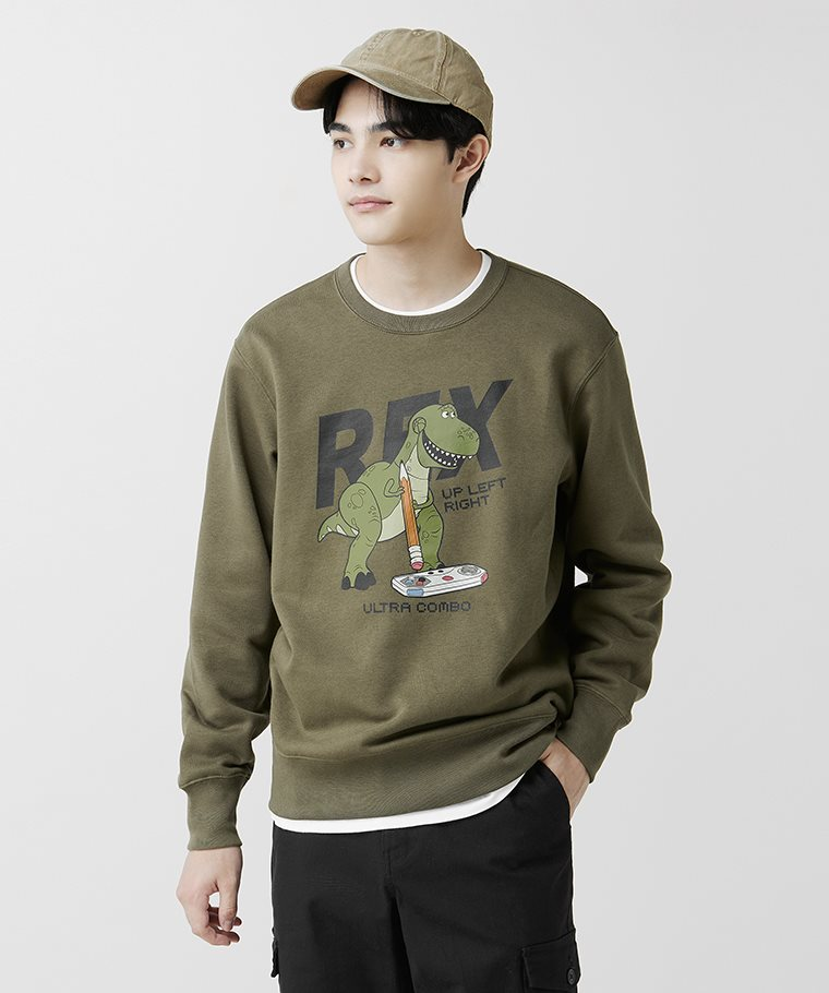 皮克斯系列刷毛圓領衫-03-男