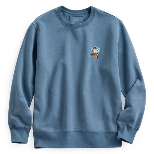 史努比系列刷毛圓領衫-01-男