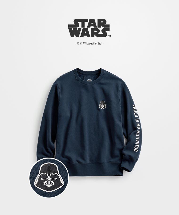 STAR WARS系列刷毛圓領衫-03-男