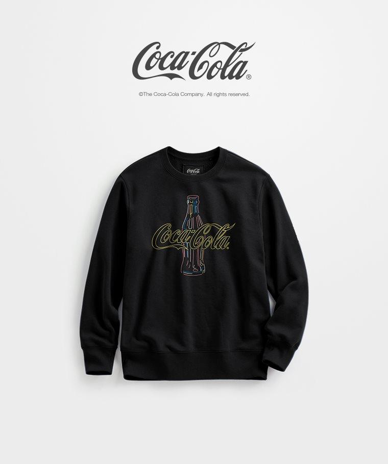 可口可樂刷毛圓領衫-03-男