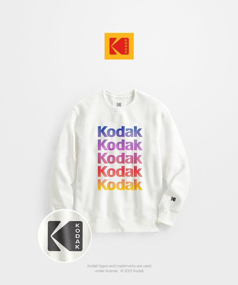 KODAK刷毛圓領衫-01-男