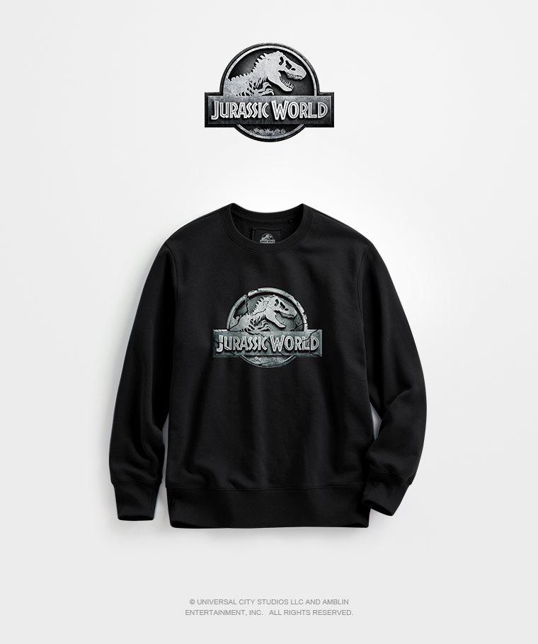 Jurassic World刷毛圓領衫-01-男