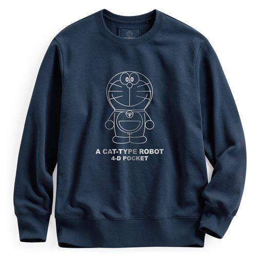 哆啦A夢刷毛圓領衫-01-男