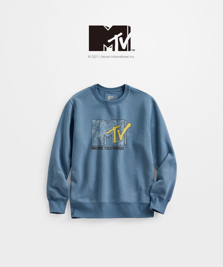 MTV刷毛圓領衫-01-男