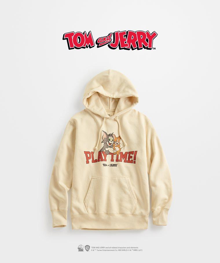 Tom & Jerry刷毛連帽衫-02-男