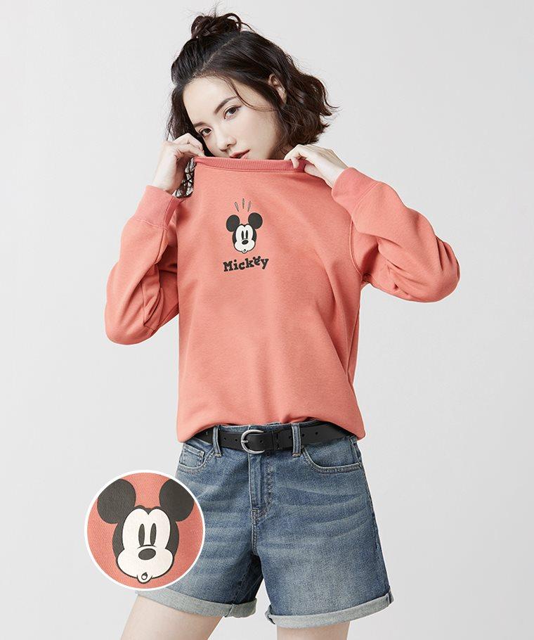 迪士尼系列刷毛圓領衫-05-女
