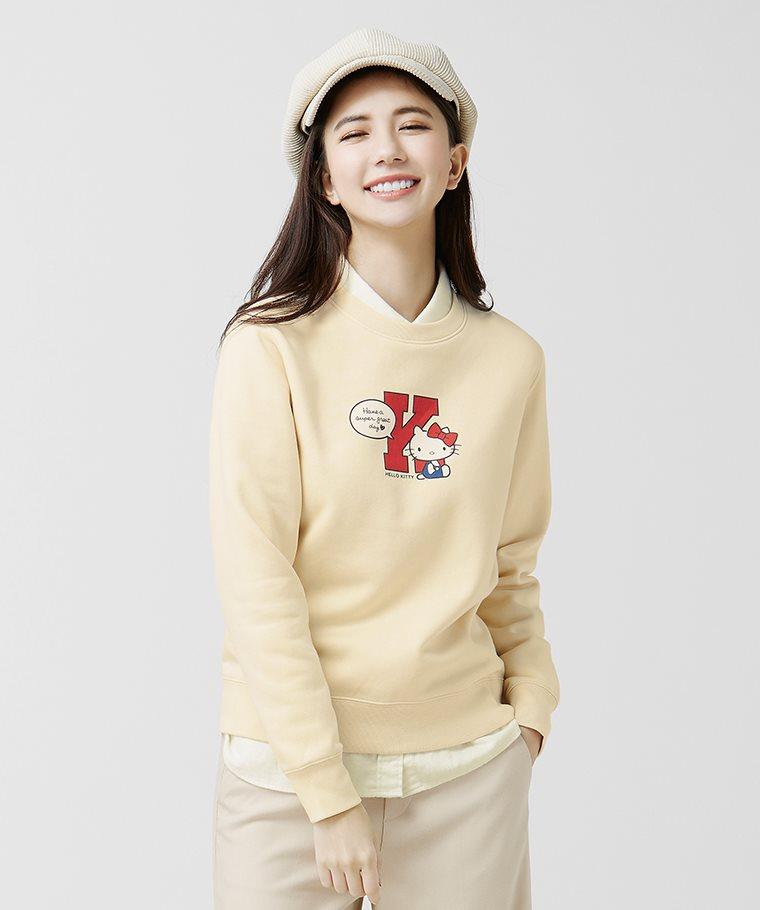 Hello Kitty刷毛圓領衫-01-女