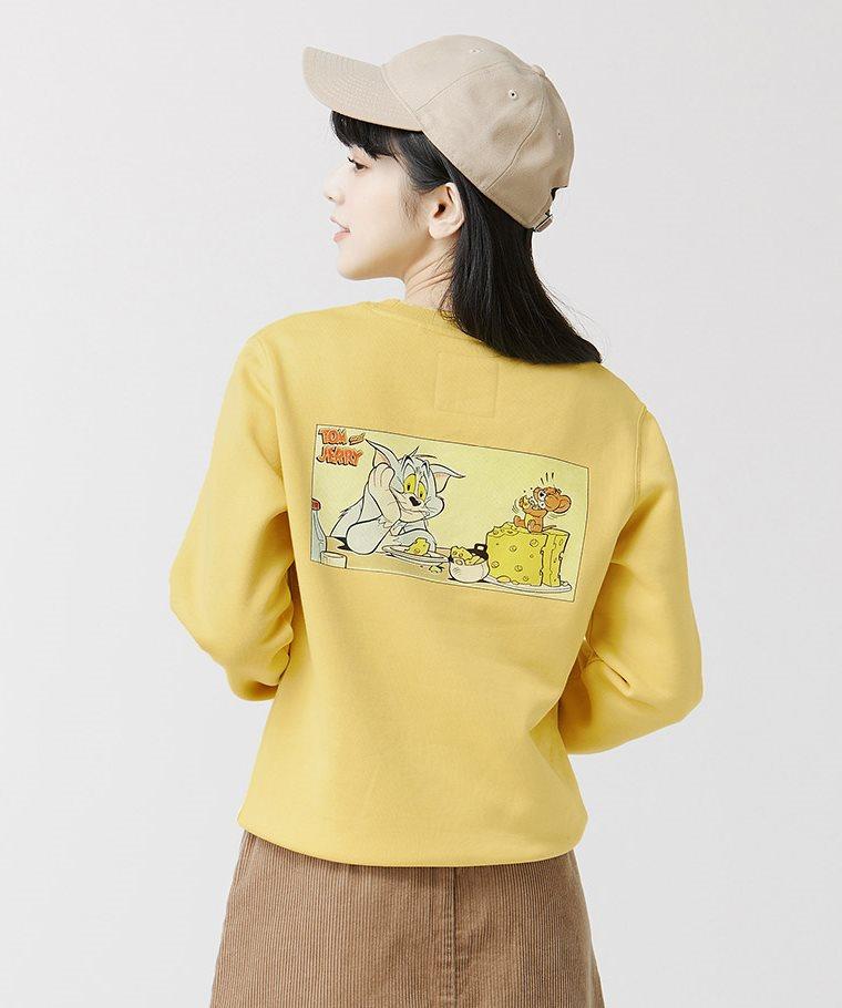Tom & Jerry刷毛圓領衫-05-女