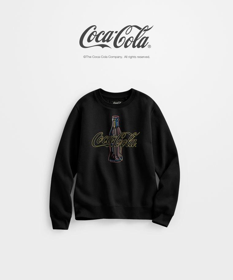 可口可樂刷毛圓領衫-03-女