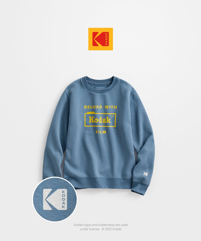 KODAK刷毛圓領衫-02-女
