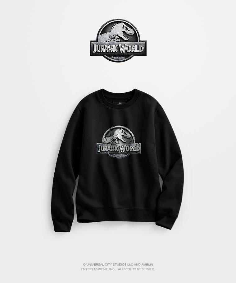 Jurassic World刷毛圓領衫-01-女