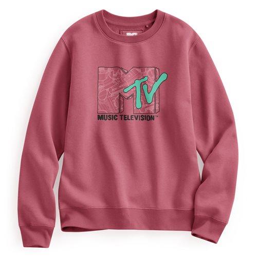 MTV刷毛圓領衫-01-女