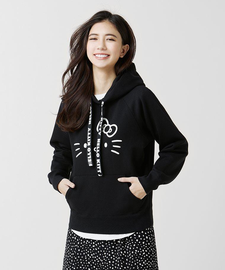 Hello Kitty刷毛連帽衫-02-女