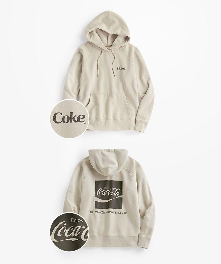 可口可樂刷毛連帽衫-05-女