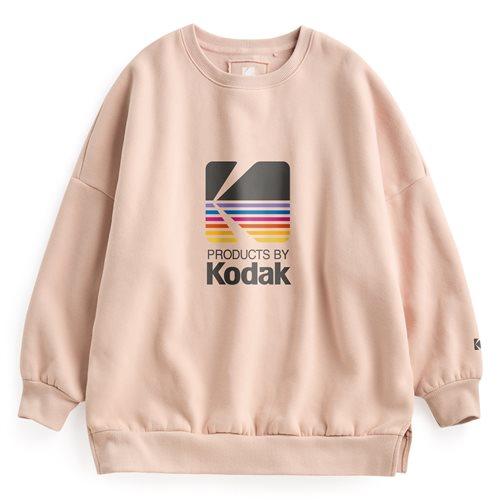 KODAK刷毛寬鬆圓領衫-03-女