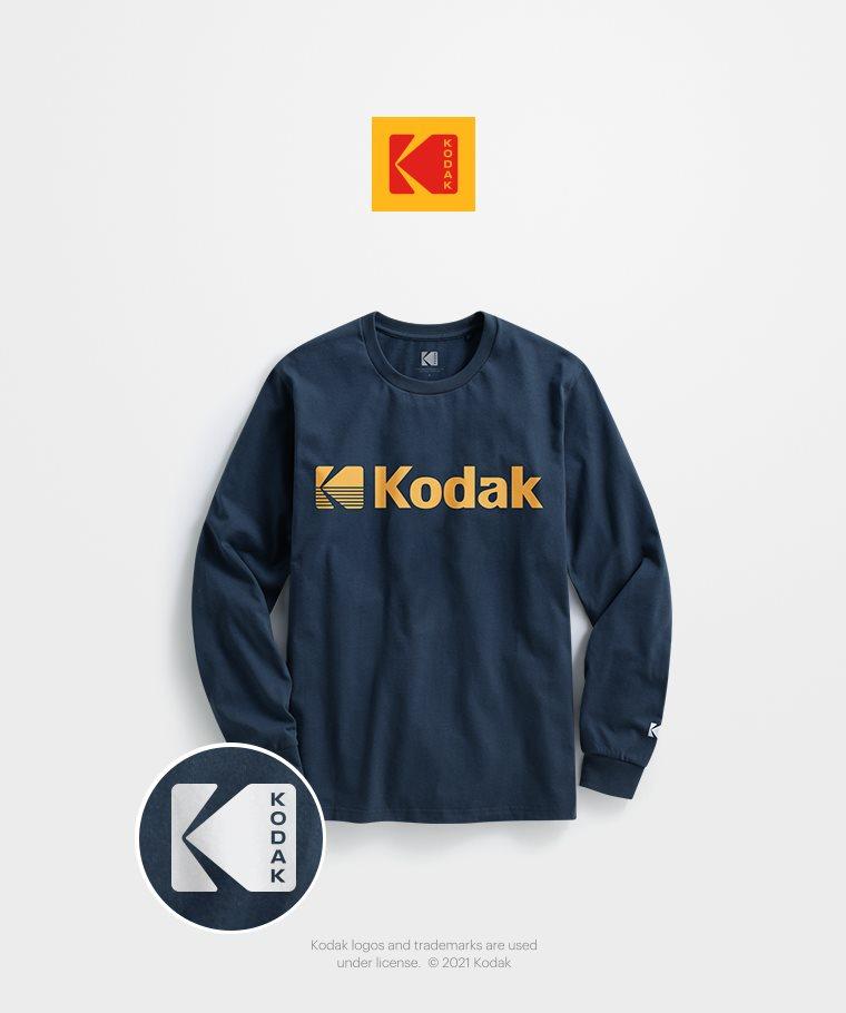 KODAK長袖印花T恤-04-男