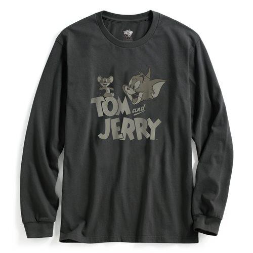 Tom & Jerry長袖印花T恤-03-男
