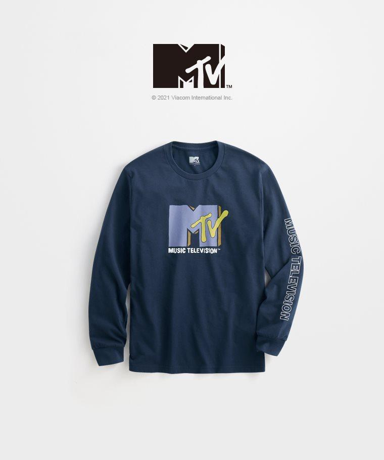 MTV長袖印花T恤-01-男