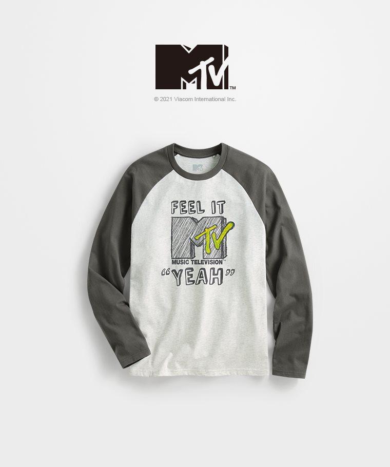 MTV拉克蘭長袖印花T恤-02-男