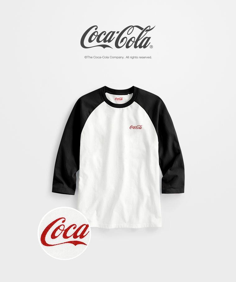 可口可樂拉克蘭七分袖印花T恤-04-男