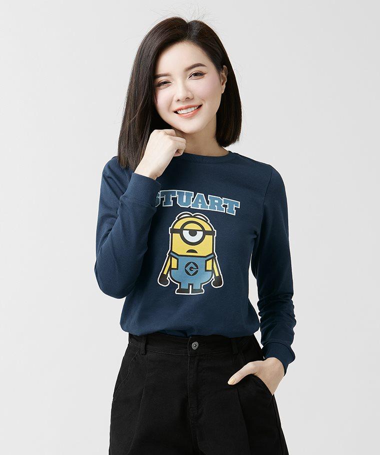 Despicable Me長袖印花T恤-01-女