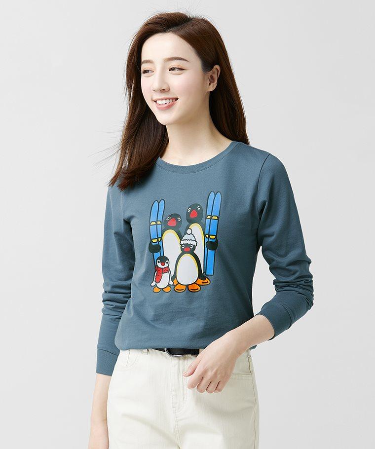 PINGU長袖印花T恤-01-女