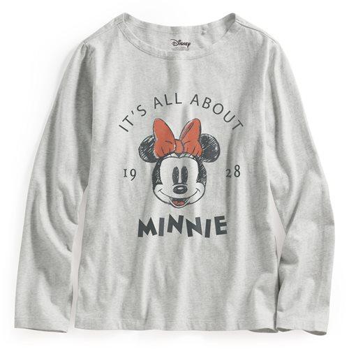 迪士尼系列寬版長袖印花T恤-14-女