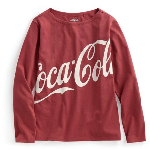 可口可樂寬版長袖印花T恤-05-女