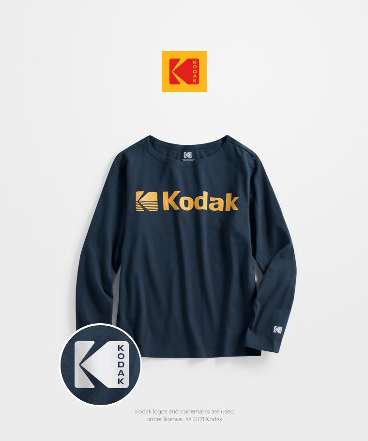 KODAK寬版長袖印花T恤-04-女