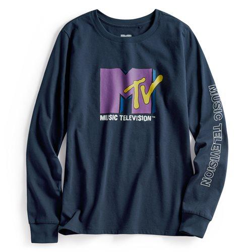 MTV長袖印花T恤-01-女