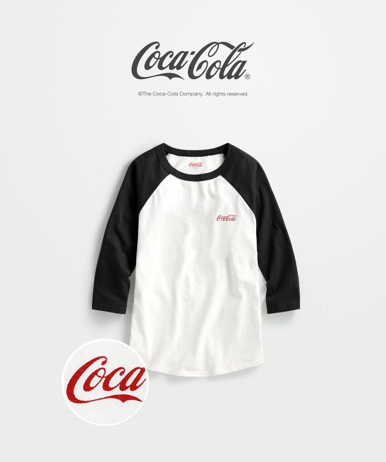 可口可樂拉克蘭七分袖印花T恤-04-女