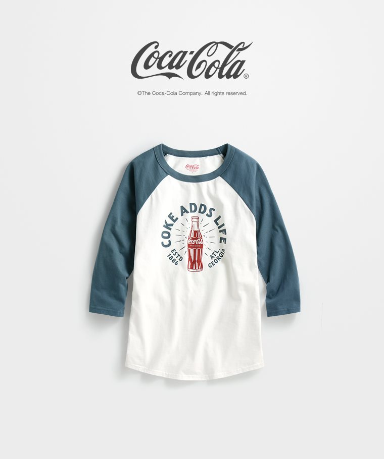 可口可樂拉克蘭七分袖印花T恤-03-女