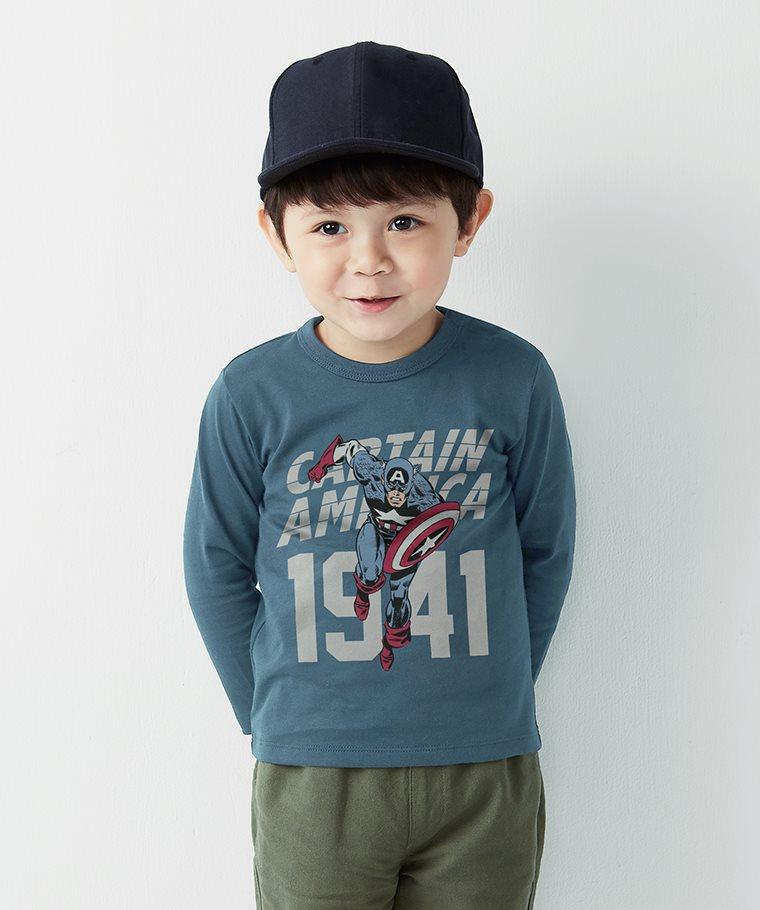 漫威系列長袖印花T恤-01-童