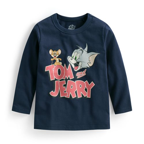 Tom & Jerry長袖印花T恤-03-童