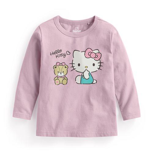 Hello Kitty長袖印花T恤-02-童