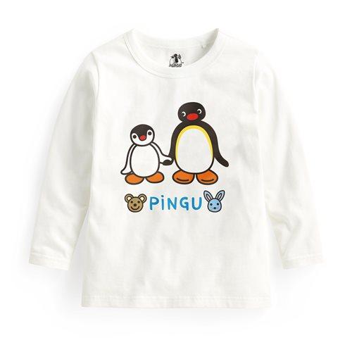 PINGU長袖印花T恤-03-童