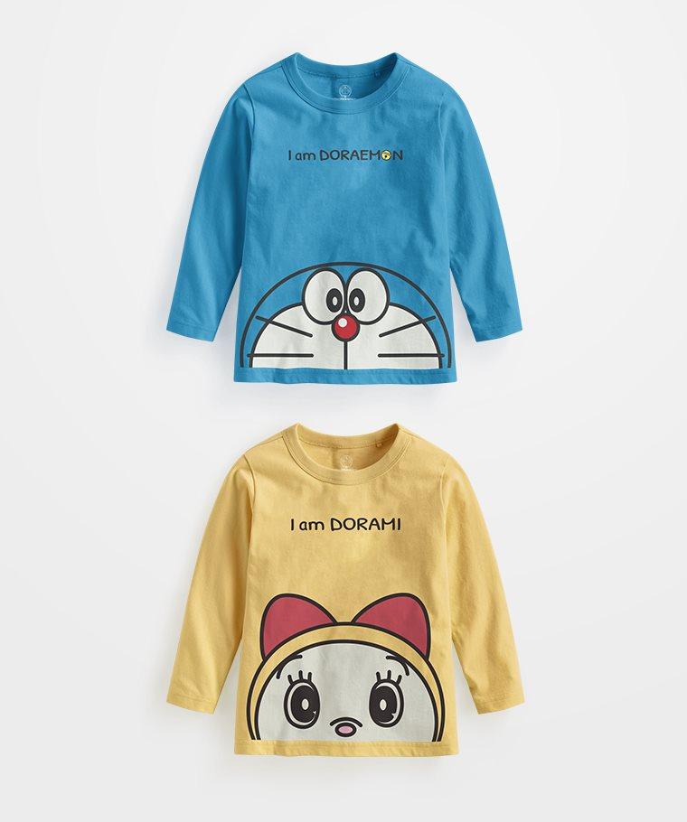 哆啦A夢長袖印花T恤-03-童