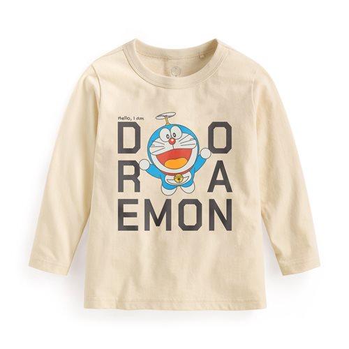 哆啦A夢長袖印花T恤-04-童