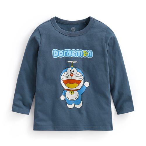 哆啦A夢長袖印花T恤-01-童
