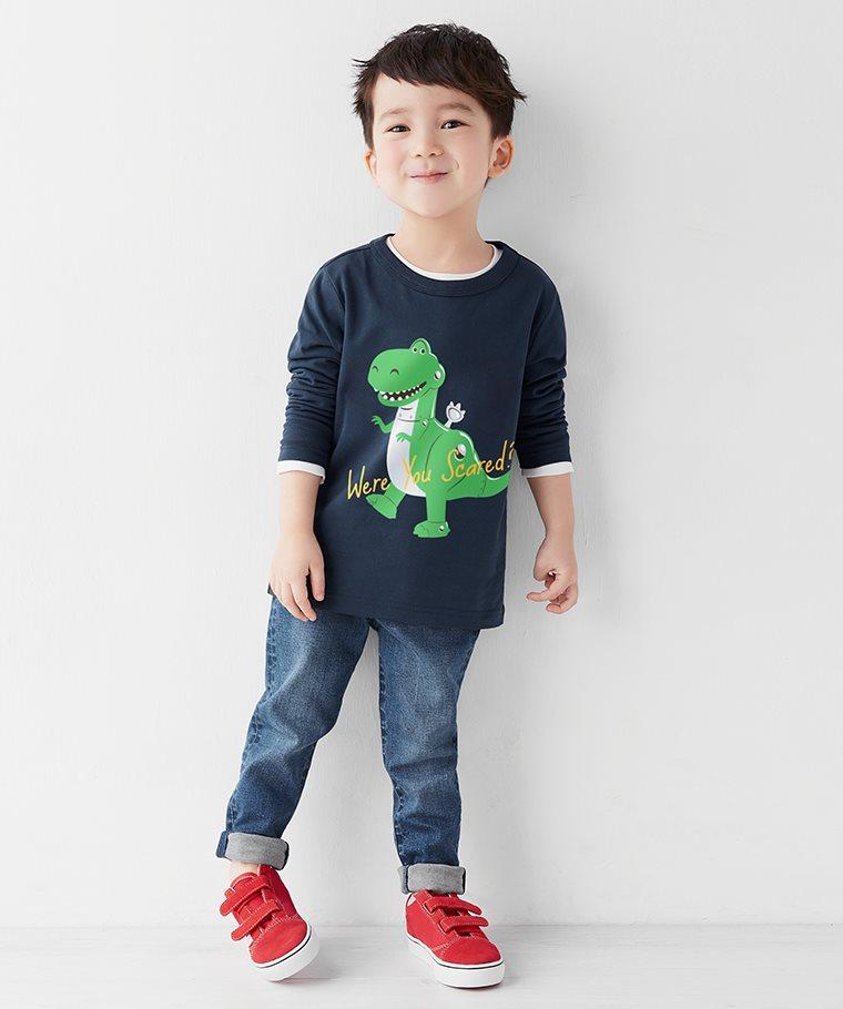 皮克斯系列長袖印花T恤-02-童