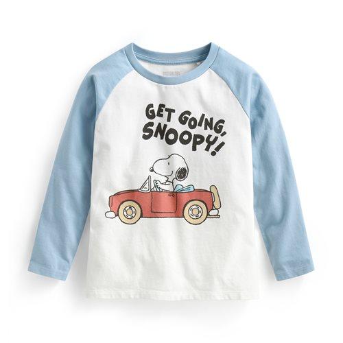 史努比系列拉克蘭長袖印花T恤-12-童