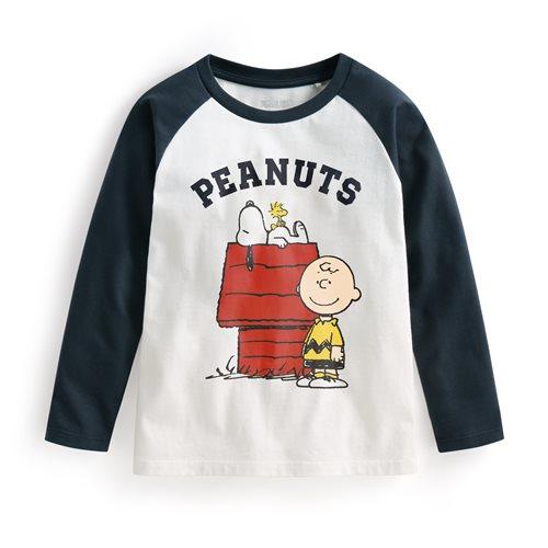 史努比系列拉克蘭長袖印花T恤-05-童