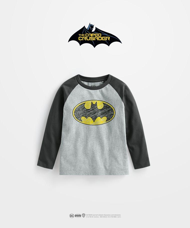 Batman拉克蘭長袖印花T恤-01-童
